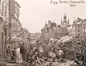 Bigg Market, Newcastle, 1820