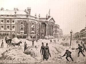 Great Snow Storm, March 3, 1886 - Scene in Grey Street , Newcastle