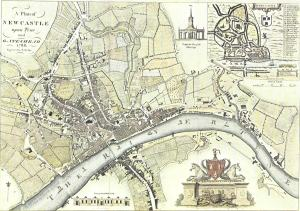 Map of Newcastle 1788