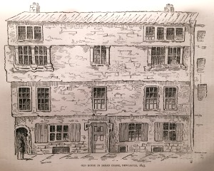 Old House in Broard Chare, Newcastle, 1843