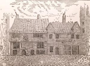 Old Inns, Bigg Market, Newcastle, 1843