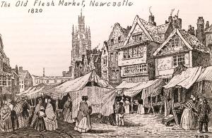 The Old Flesh Market, Newcastle, 1820