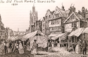 The Old Flesh Market, Newcastle, 1820