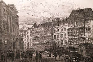 The Sandhill and The Guildhall, Newcastle, 1888