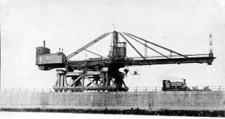 Construction of Roker Pier circa 1900