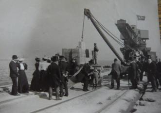 Laying foundation stone