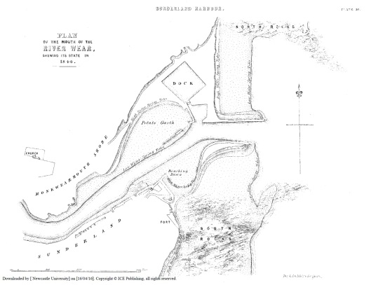 River Wear Plan 1846